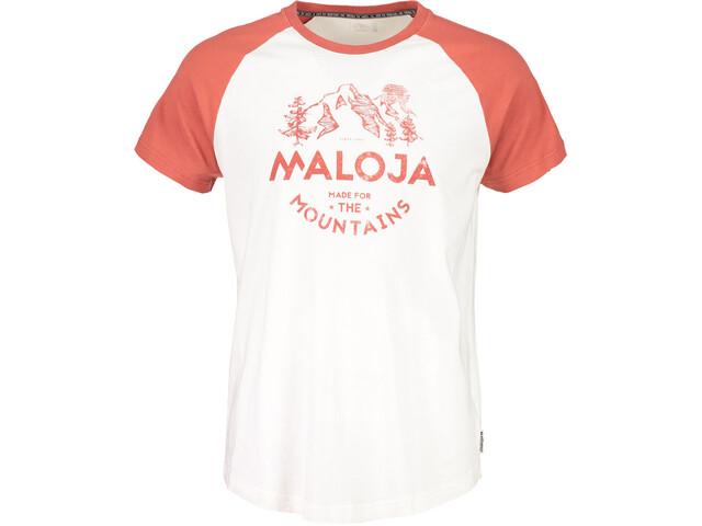 Maloja BeverM. - Camiseta manga corta Hombre - rojo/blanco